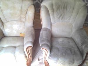 Fotel po lewej już wyprany