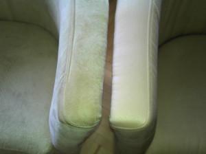 Oparcie fotela po prawej wyprane